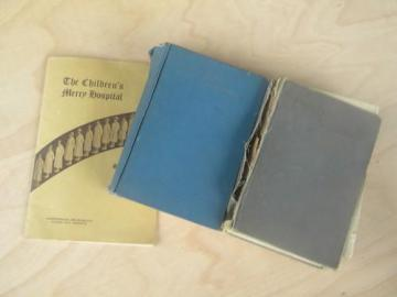 lot of old medical nursing books w/photos children's hospital
