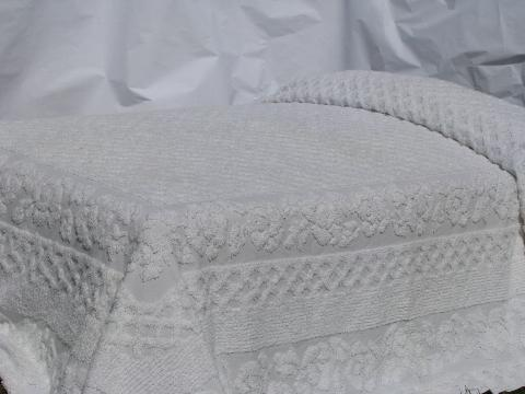 lot of old vintage cotton chenille & candlewick bedspreads