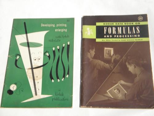 lot of vintage Kodak photography & darkroom photo developing books