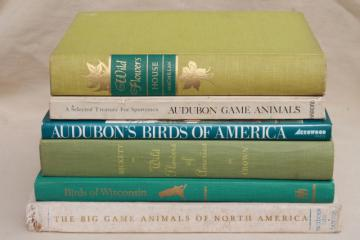 lot of vintage books all natural history prints plates birds, wildflowers, animals