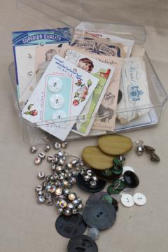 lot of vintage buttons, rhinestone diamond dress buttons, bakelite coat buttons
