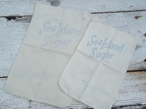 lot of vintage cotton sugar sacks, primitive old feed sack fabric