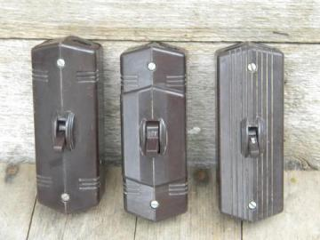 lot of vintage deco bakelite architectural surface mount switches