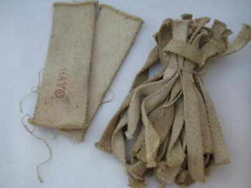 lot of vintage new-old-stock cotton lamp wicks or lamps, lanterns etc
