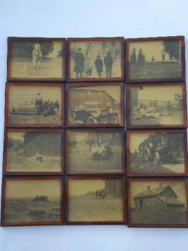 lot old Illinois family farm photos, farming w/ horses, early tractor
