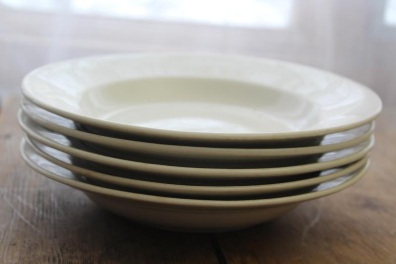 lot old antique white ironstone china soup bowl plates, rustic farmhouse table ware
