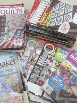 lot quilt pattern & quilting magazines, 30+ back issues assorted titles