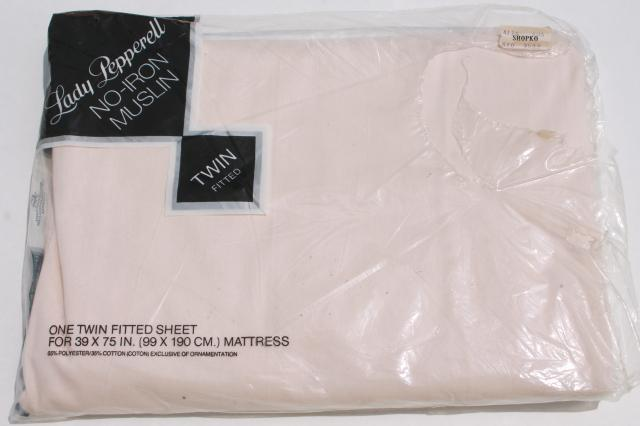 Lot Sealed Vintage Bed Sheets Twin Fitted Amp Flat Rose