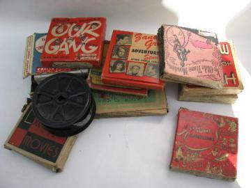 lot vintage 16mm film movies cowboys/Tarzan/cartoons+