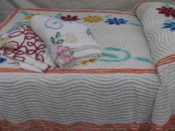 Vintage Chenille Bedspreads Candlewick Spreads Etc
