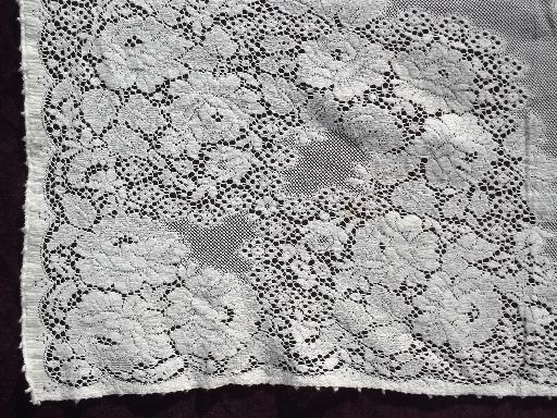 Lot Vintage Cotton Quaker Lace Type Tablecloths Lacy