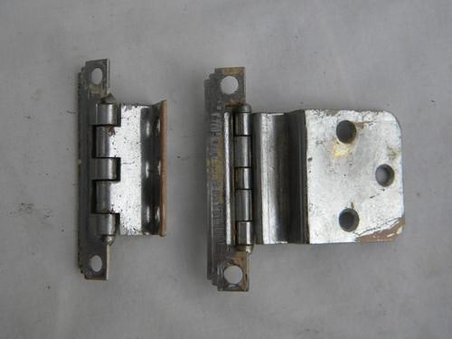 - Lot Vintage Deco Chrome Cabinet Door Hinges, Architectural Hardware
