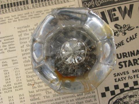 Lot Vintage Door Hardware Locks Antique Glass Doorknobs Mercury Star