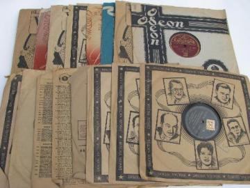 lot vintage gutta percha 78s South American latin dance records w/import stamps
