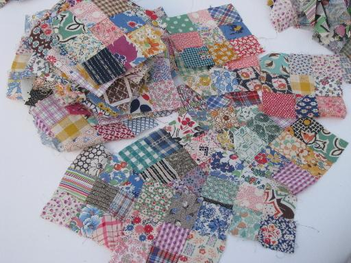 Lot Vintage Hand Stitched Pieced Quilt Blocks Amp Square