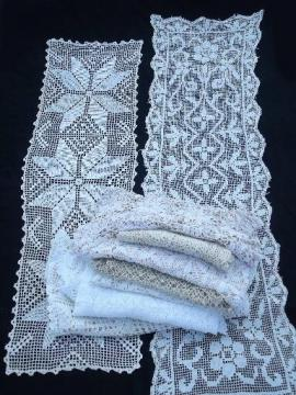 Vintage Lace Doilies Edgings And Cloths