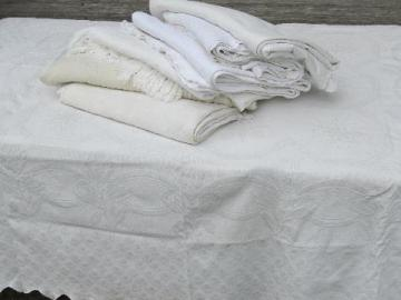 lot vintage matelasse textured cotton bedspreads bed covers coverlets