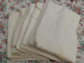lot vintage new old stock natural heavy cotton baby blankets or crib cover pads