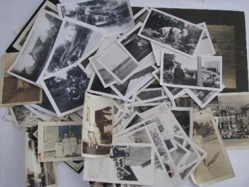 lot vintage photos, 1940s - 60s rural mid-west farm life, soldiers, cars, etc.