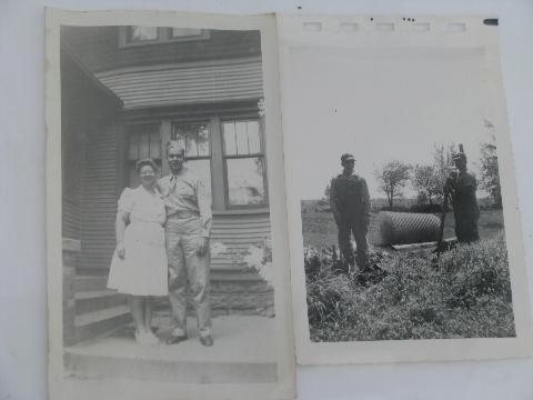 Lot Vintage Photos Wwii Era Farm Life Rural Mid West