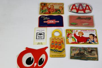lot vintage sewing needles, needle books collection w/ retro graphics & advertising
