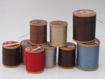 lot vintage sewing thread, heavy duty cotton for upholstery, crafts