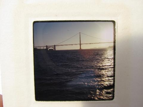 lot vintage slides photos of San Francisco Bay, Golden Gate Bridge, Alcatraz