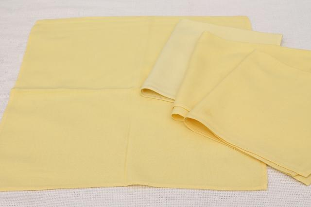 lot vintage table linen, harvest gold & butter yellow tablecloths & napkins to mix and match