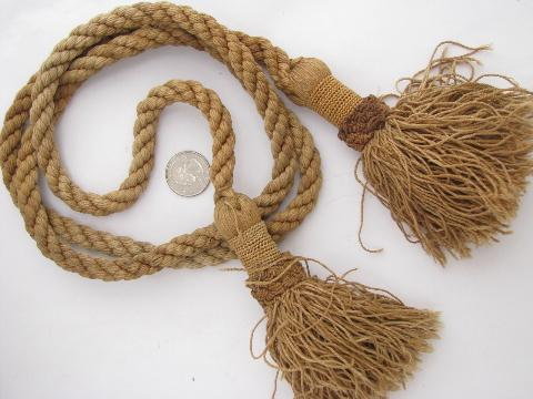 lot vintage tassels, braid, edgings, sewing / upholstery / lampshade trim
