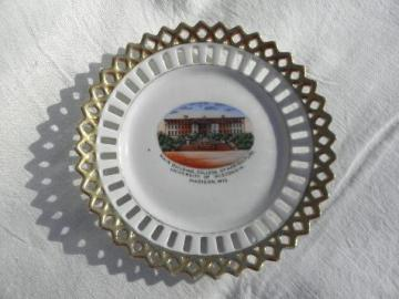 main Agriculture building UW Madison, early 1900s antique china plate