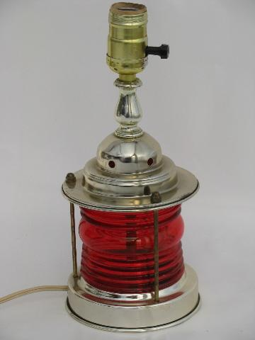 marine signal ship s lantern table lamp retro 50s nautical style light