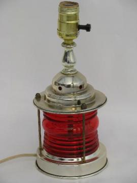 marine signal ship's lantern table lamp, retro 50s nautical style light