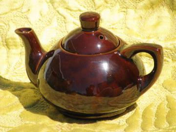 marked for Ming Tea Company, vintage Japan redware pottery teapot