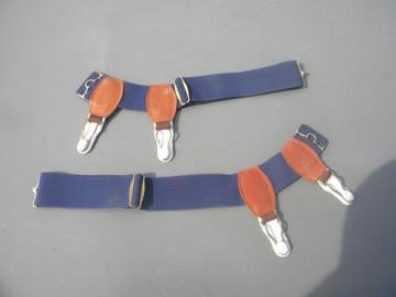 mens sock garters, vintage elastic garters for socks