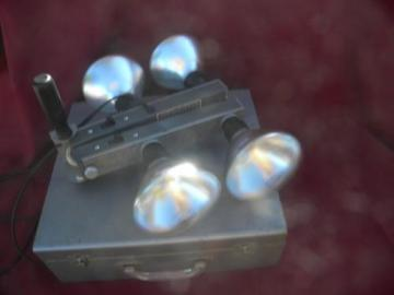 mid century portable Crystal-Brite photography/movie camera light bar