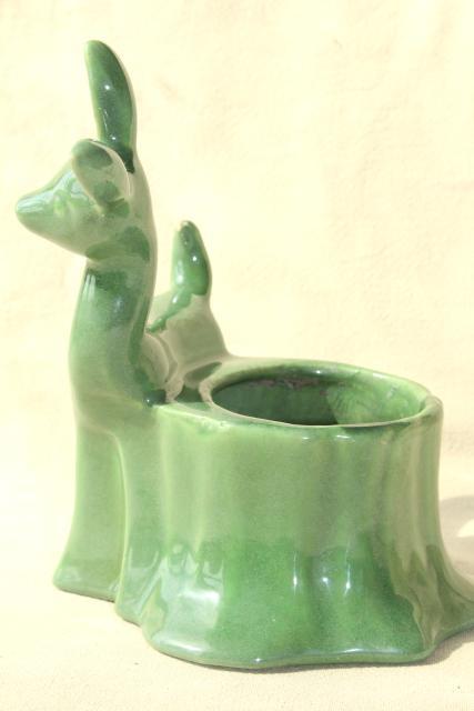 mid  little deer  jade green glaze