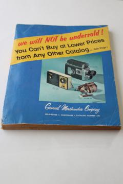mid-century vintage General Merchandise Company - Milwaukee big book mail order catalog