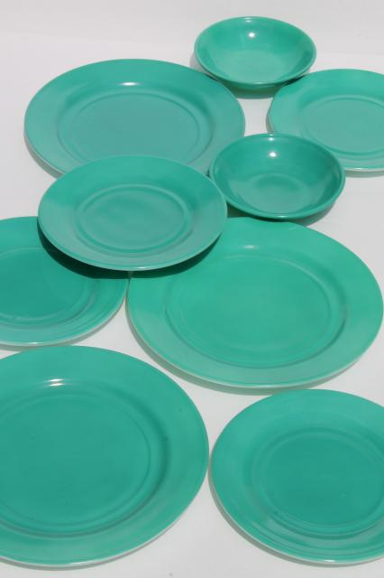mid-century vintage Hazel Atlas aqua turquoise color milk glass dishes plates \u0026 bowls & mid-century vintage Hazel Atlas aqua turquoise color milk glass ...