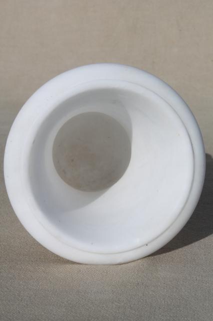 Mid Century Vintage Italian Alabaster White Marble Carved
