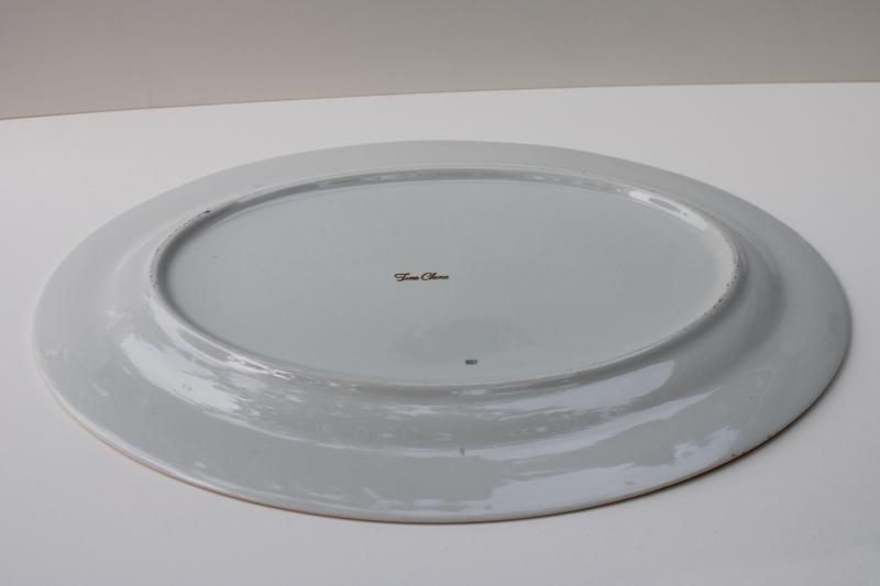 mid-century vintage Thanksgiving turkey platter, made in Japan fine china