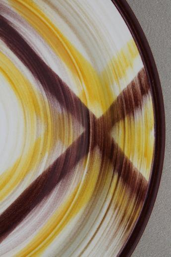 Mid Century Vintage Vernon Kilns Organdie Brown Amp Yellow