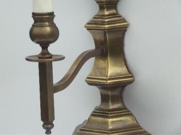 mid-century vintage brass wall sconce lamp, wall fixture reading light