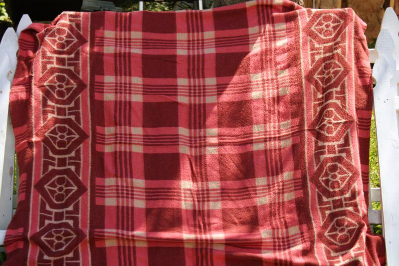 mid-century vintage camp blankets, western / southwest camping lodge or cabin decor