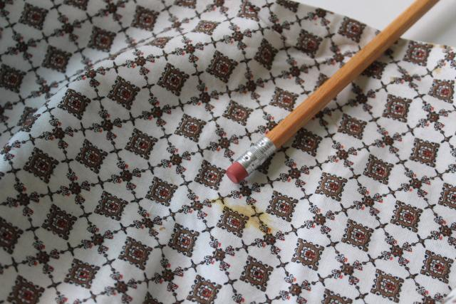mid-century vintage cotton fabric, foulard print for pjs or boxer shorts