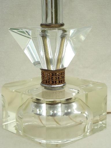 Marvelous Mid Century Vintage Crystal Boudoir Lamps, Hollywood Regency Lamp Pair