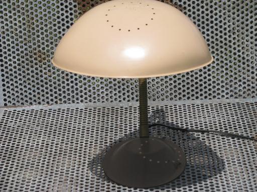 Century vintage gooseneck desk light metal helmet lamp shade mid century vintage gooseneck desk light metal helmet lamp shade aloadofball Images