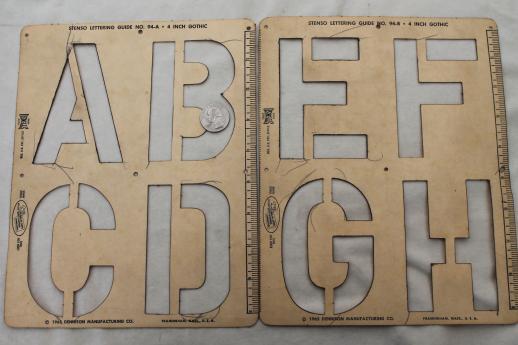 Mid century vintage letter and number stencils cardstock alphabet mid century vintage letter and number stencils cardstock alphabet numbering templates for signs spiritdancerdesigns Images