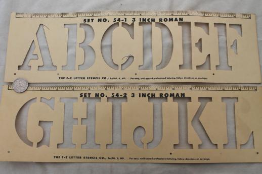 Mid century vintage letter and number stencils cardstock alphabet mid century vintage letter and number stencils cardstock alphabet numbering templates for signs spiritdancerdesigns Choice Image