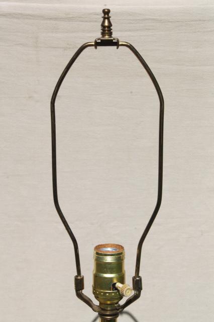 Mid Century Vintage Table Lamp Huge Solid Brass Column W