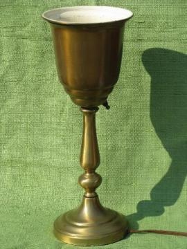 mid-century vintage torchiere vase lamp, hollywood regency style